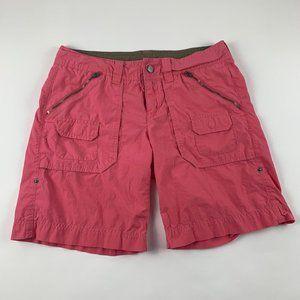 Athleta Pink Poplin Cargo Shorts 6